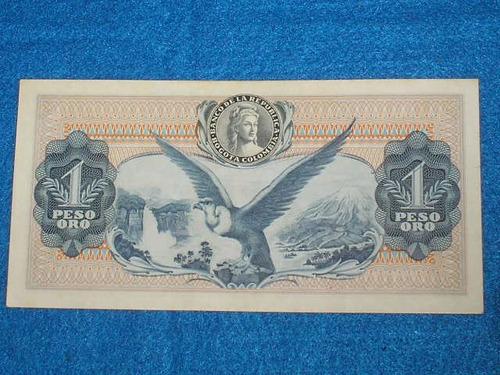 billete de 1 peso colombiano