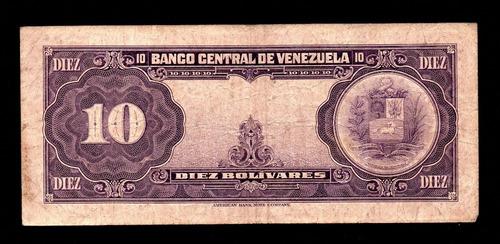 billete de 10 bs. de 1955  serial m7