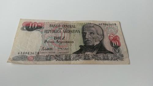 billete de 10 pesos