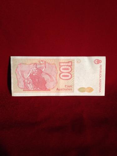 billete de 100 australes sin circular -excelente- 1mdoctstes