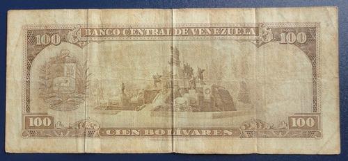 billete de 100 bolivares de 1969 serie u 7 digitos