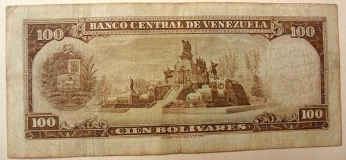 billete de  100 bs 1973 e7 marrón