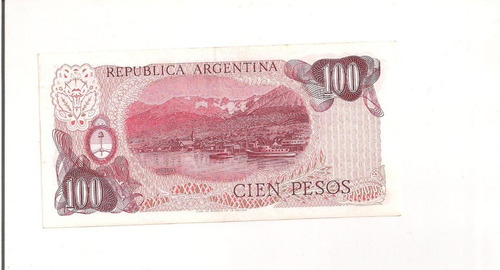 billete de 100 pesos argentinos