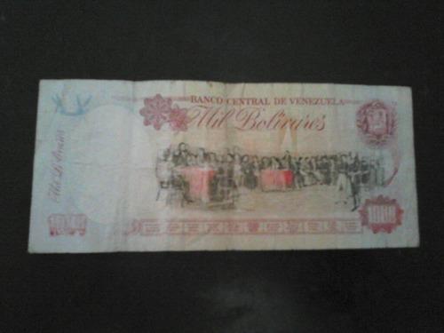 billete de 1000 bolivares año 1998