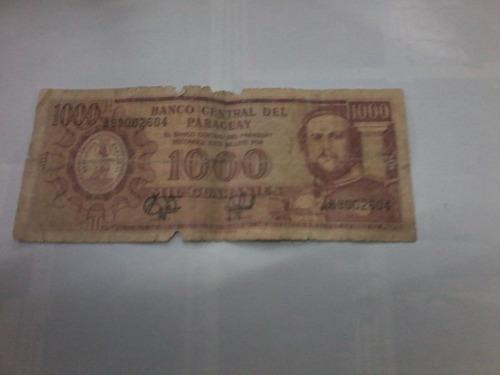 billete de 1000 guaranies (paraguay)