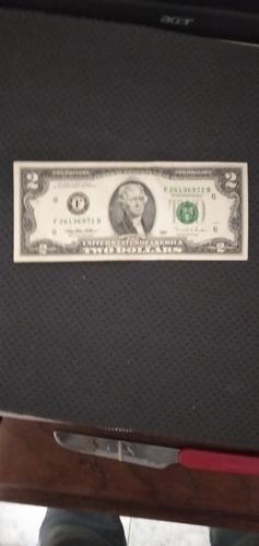 billete de 2$ de colección  serie 1995