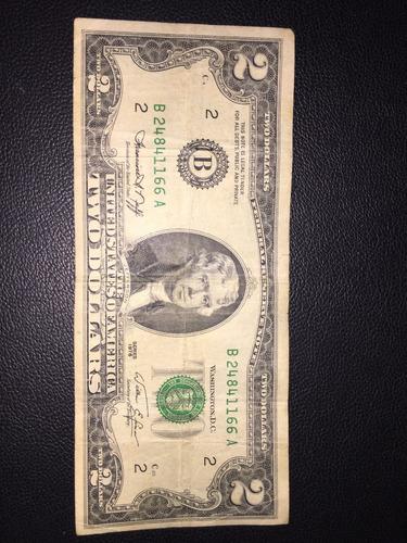 billete de 2$ serial a