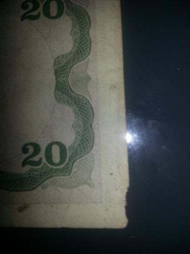 billete de 20 bolivares con error
