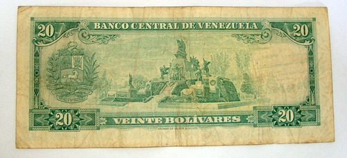 billete de  20 bs 1974 c7