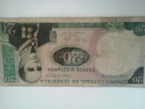 billete de 20 de coleccion