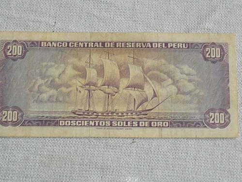 billete de 200 soles