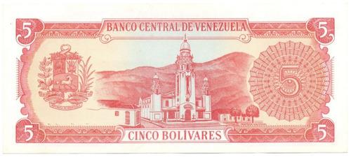 billete de 5 bolívares septiembre 21 de 1989 serial j8