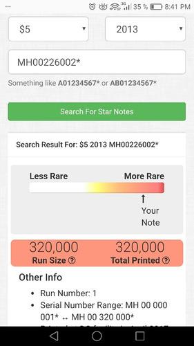 billete de 5 dolares de estados unidos con estrella y radar