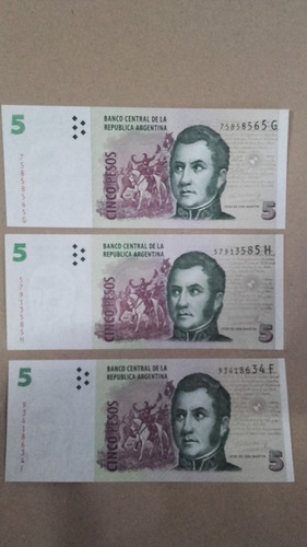 billete de 5 $ sin cicular
