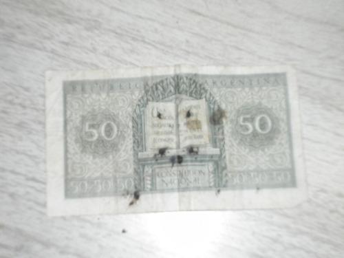 billete  de 50 centavos,   argentina, década del 40