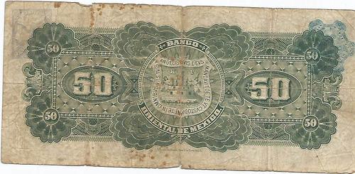 billete de 50 pesos banco oriental