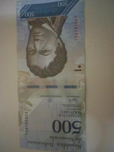 billete de 500 bolívares. del 23 de marzo del 2017