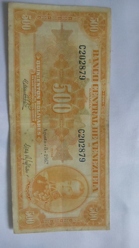 billete de 500 bs año 1967