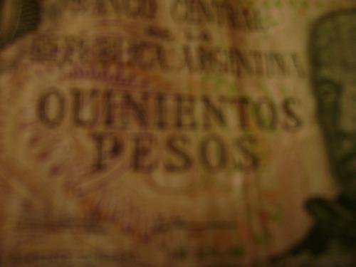 billete de 500 pesos