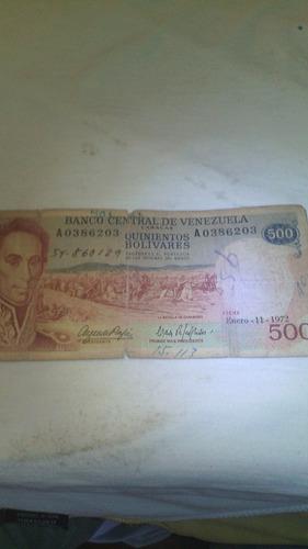 billete de 500 venezolanos