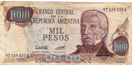 billete de argentina mil pesos