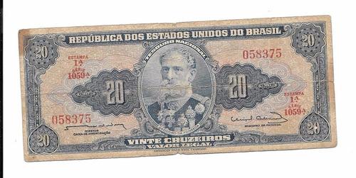 billete de brasil 20 cruzeiros 1944