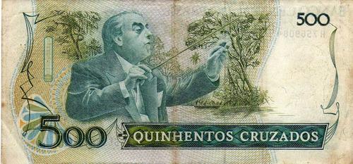 billete de brasil 500 cruzados
