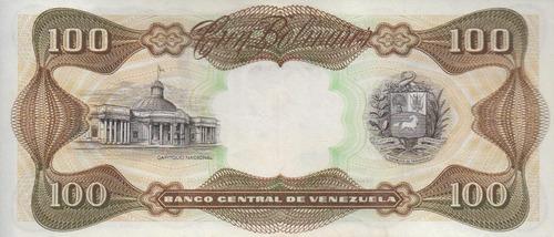 billete de bs 100 seriales g-8  1998 (para coleccionistas)