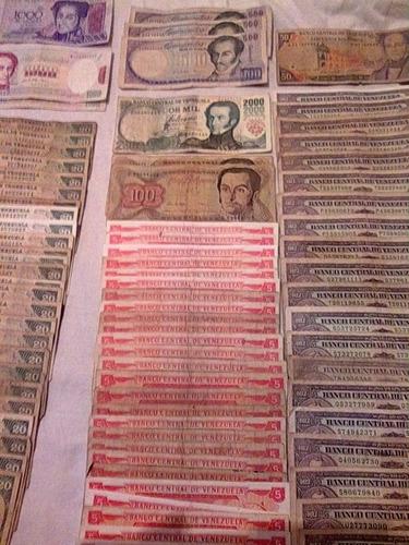 billete de bs. 20 de 1989 - 92 - 98 - y 95 lote de 25 unidad