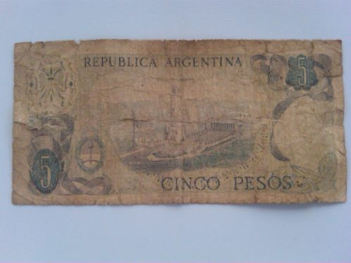 billete de cinco pesos
