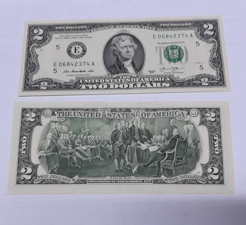 billete de coleccion de dos unidades