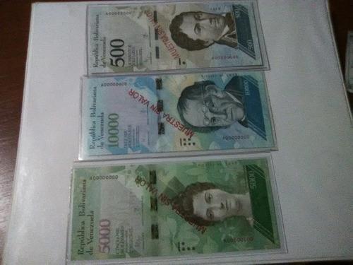 billete de coleccion especimen muestra