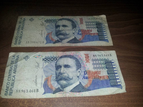 billete de diez mil australes