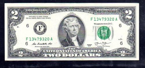 billete de dos dolares nuevos