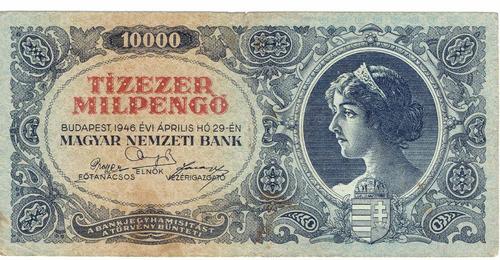billete de hungría, 10.000 pengö de 1946.   jp