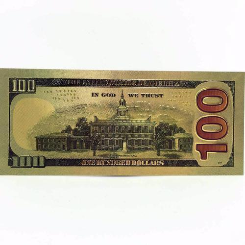 billete de la suerte 100 dolares fantasia dorado oro + bonos