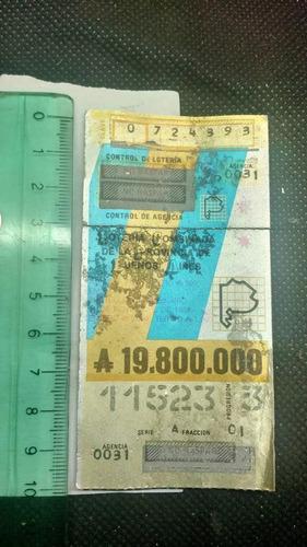 billete de lotería combinada de la provincia de buenos aires