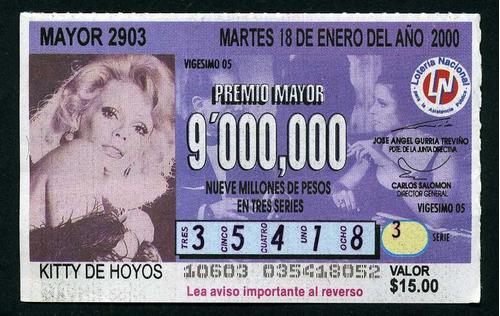 billete de loteria kitty de hoyos