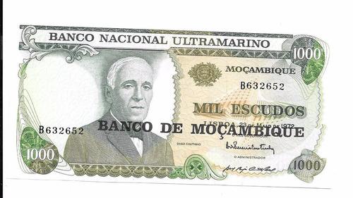 billete de mozambique.  1000 escudos 1972 unc