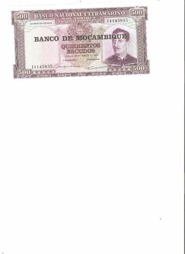 billete de mozambique.  500 escudos 1967 unc