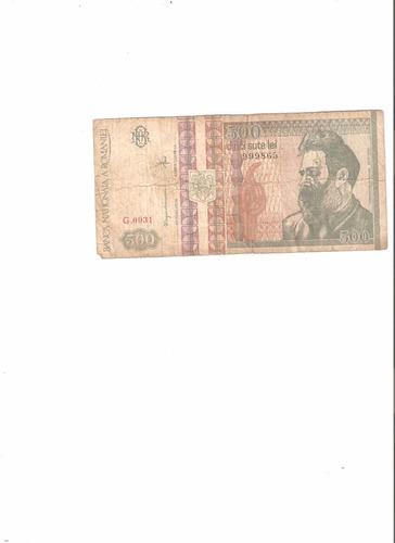 billete de rumania 500 leu 1992