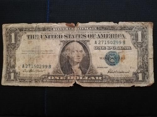 billete de sello azul serie 1957.