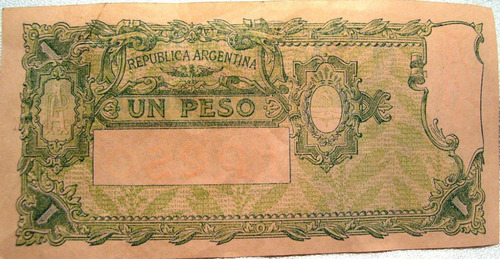 billete de un peso nuevo sin circular con leyenda diferente