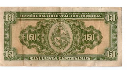billete de uruguay  del año 1939 ( pdr-0052)