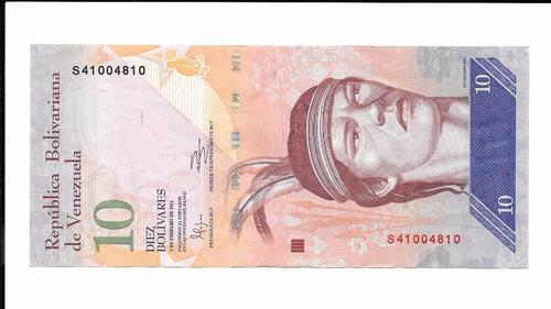 billete de venezuela.  10 bolívares 2011