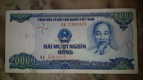 billete de vietnam 20000 dong