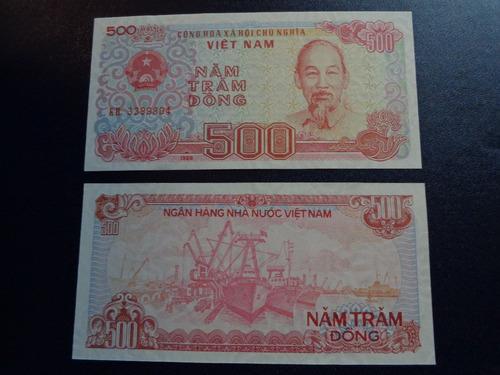 billete de vietnam, de 500 dong, año 1988, sin circular