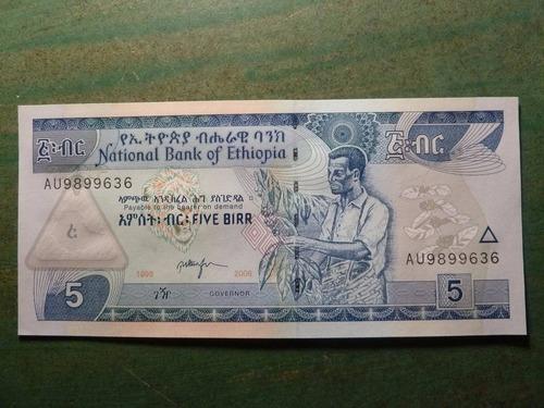 billete ethiopia etiopia 5 birr 2006 - vp