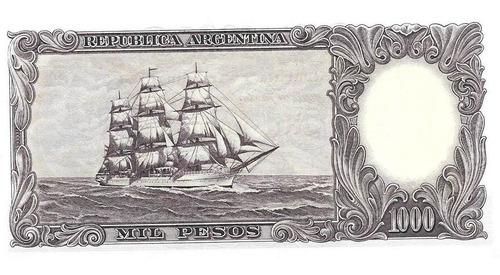 billete fragata 1000 pesos bottero 2153 serie c sin circular