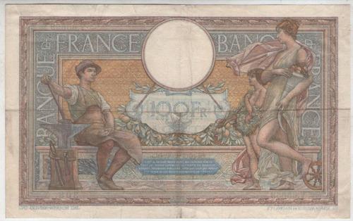 billete  francia  100 francos 1939 pick 86b  exc-